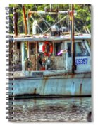 Pelican And Fishing Boat Spiral Notebook