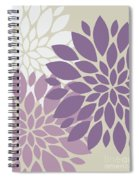 Peony Flowers Spiral Notebook