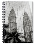 Petronas Towers Reflection Spiral Notebook