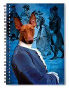 Pharaoh Hound Art Canvas Print Spiral Notebook