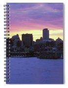 Philadelphia Skyline At Dusk Spiral Notebook