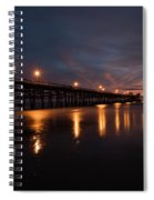 Pier In The Pacific Ocean At Dusk, San Spiral Notebook