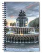 Majestic Sunset In Waterfront Park Spiral Notebook