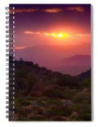 Pink Desert Skies  Spiral Notebook