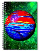 Planet Disector Red 1 Spiral Notebook