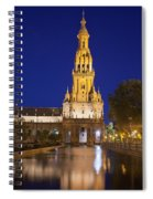 Plaza De Espana Tower In Seville Spiral Notebook