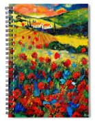 Poppies In Tuscany  Spiral Notebook