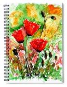 Poppy Lawn Spiral Notebook