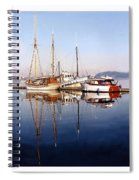 Port Orchard Marina Reflections Spiral Notebook