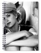 Portrait In Black And White Spiral Notebook