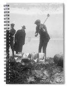 Prohibition Feds Destroy Liquor  1923 Spiral Notebook