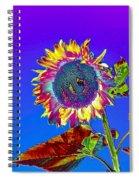 Psychedelic Sunflower Spiral Notebook