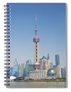 Pudong Skyline In Shanghai China Spiral Notebook
