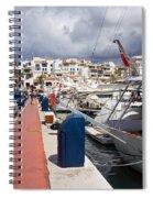 Puerto Banus Marina Spiral Notebook