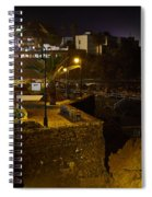 Puerto De La Cruz By Night Spiral Notebook