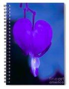Purple Bleeding Heart Flower Spiral Notebook