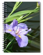 Purple Iris Reflection Spiral Notebook
