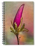 Purple Magnolia Spiral Notebook