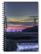 Charleston Bridge Low Tide Spiral Notebook