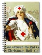 Red Cross Poster, C1918 Spiral Notebook