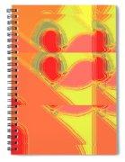 Red Effect Spiral Notebook