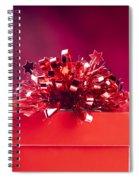 Red Gift Box Spiral Notebook