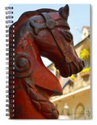 Red Horse Head Post Spiral Notebook