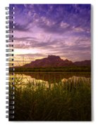 Red Mountain Reflections  Spiral Notebook