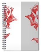 2 Red Roses Poster Spiral Notebook