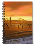 Redondo Beach Pier At Sunset Spiral Notebook