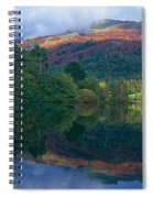 Reflection Of Hills In A Lake Spiral Notebook