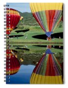 Reflection Of Hot Air Balloons Spiral Notebook