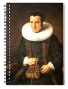 Rembrandt's An Old Lady With A Book Spiral Notebook