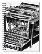 Remington Typewriter Spiral Notebook
