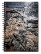 Rock Formations At Georgian Bay Spiral Notebook