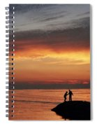 Rock Harbor Sunset Spiral Notebook