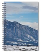 Rocky Mountains Flatirons And Longs Peak Panorama Boulder Spiral Notebook