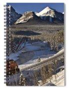 Rocky Mountains In Winter Spiral Notebook