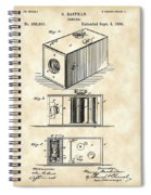 Roll Film Camera Patent 1888 - Vintage Spiral Notebook