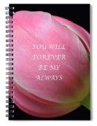 Romantic Pink Tulip Spiral Notebook