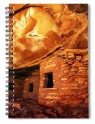 Roof Falling In Ruin Utah Spiral Notebook
