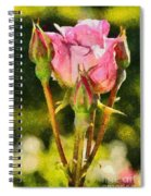 Rose Flower Spiral Notebook