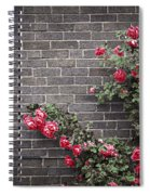 Roses On Brick Wall Spiral Notebook