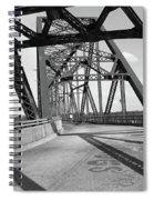 Route 66 - Chain Of Rocks Bridge Spiral Notebook