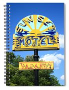 Route 66 - Sunset Motel Spiral Notebook