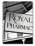 Royal Pharmacy - Bw Spiral Notebook