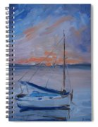 Sailboat Reflections II Spiral Notebook