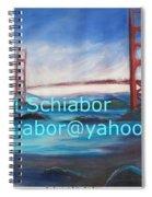 San Francisco Golden Gate Bridge  Spiral Notebook