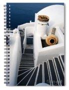 Santorini Steps Spiral Notebook