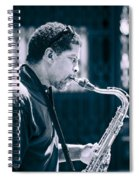 Saxophone Player Spiral Notebook